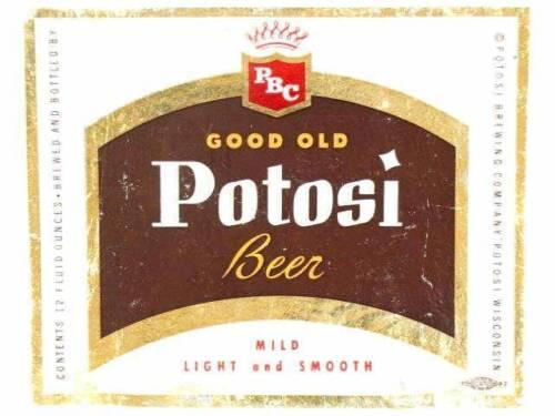 Good Old Potosi Beer Mild Light /&  Smooth 12oz Potosi Brewing Co WI Tavern Trove