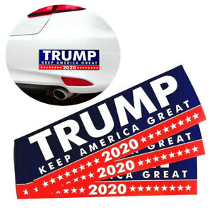 10Pcs-Donald-Trump-President-2020-Bumper-Car-Stickers-Keep-America-Great-Decal