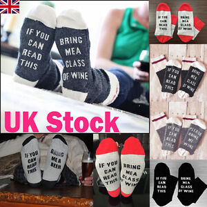 If-You-can-read-this-Bring-Me-a-Beer-A-Glass-Of-Wine-Women-Men-Socks-Unisex-UK