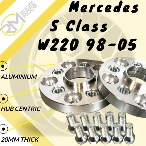 MERCEDES Classe S W220 98-05 20mm in lega Hubcentric Wheel Distanziatori 5x112 66.6