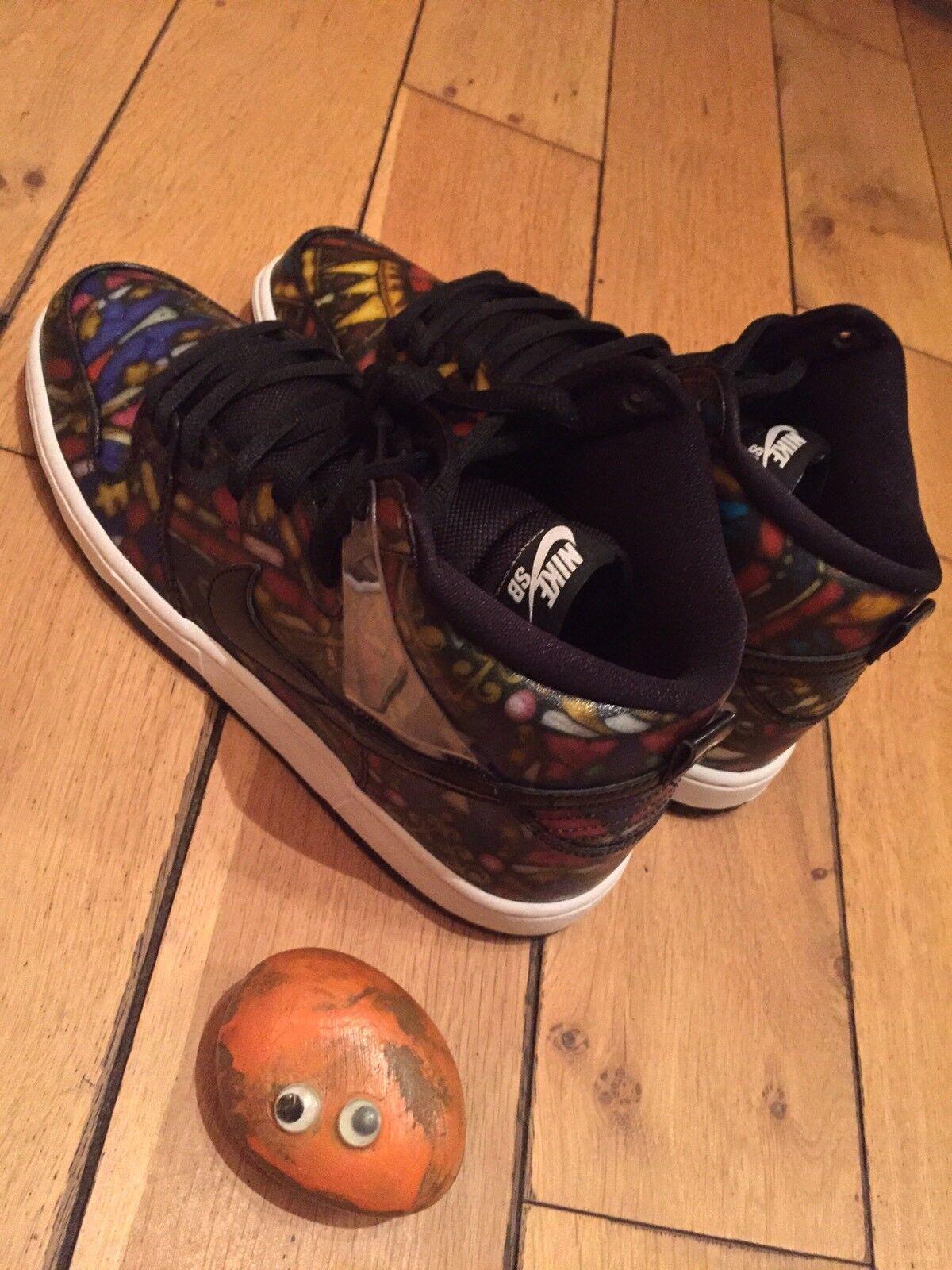 Nike SB Concepts  Dunk alta QS Zapatos  Concepts Xvidrieras Varsity Rojo/Negro/mango f0de02