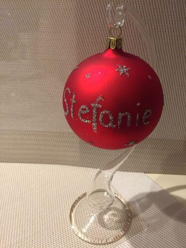 Weihnachtskugel Personalisiert ❤️ Lauschaer Glaskugel Weihnachten