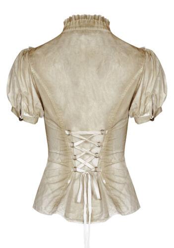 Steampunk Bluse Hemd Gothic Lolita Viktorianisch Spitze Korsett Retro PunkRave B