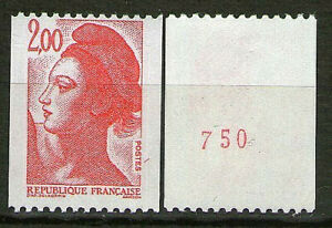TIMBRE-N-2277a-NEUF-XX-LUXE-LIBERTE-ROULETTE-N-ROUGE-AU-VERSO