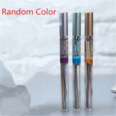 18pcs//Tube Automatic Mechanical Pencil Refill Color Lead School Stationery 0.7mm