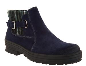 Earth Origins Repelente Al Agua Tobillo botas De Gamuza-Tate Azul Marino Para Mujer Nuevos
