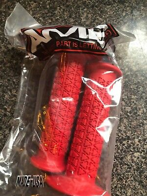AME old school BMX Tri bicycle grips RED *MADE IN USA*