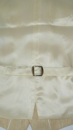 "Harvie /& Hudson Regular 100/% Linen Light Yellow Waistcoat RRP £135 Size 40/"""