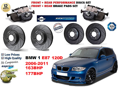 BMW  1 SERIES E87 120D 2007-2011 300mm VENTED FRONT BRAKE DISCS AND BRAKE PADS