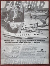 9/1982 PUB FAIRCHILD SWEARINGEN MERLIN IVC BUSINESS AIRCRAFT ORIGINAL AD