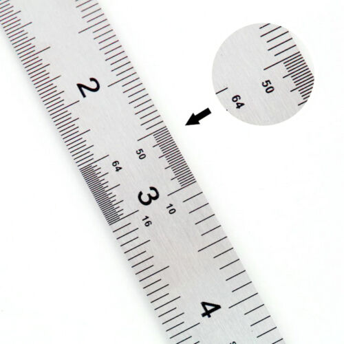 """Amazing 15cm Double Side Stainless Steel Measuring Straight Ruler Tool 6/""""  HF2"""