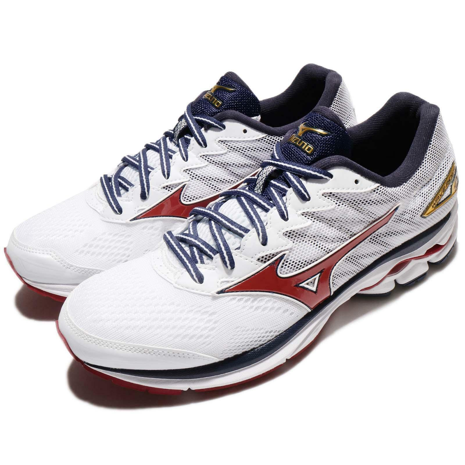 Mizuno Wave Rider 20 blanco azul rojo Men Running zapatos Trainers J1GC17-0361