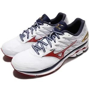 Mizuno-Wave-Rider-20-White-Blue-Red-Men-Running-Shoes-Trainers-J1GC17-0361