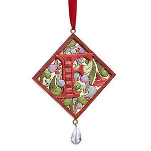 Jim-Shore-monograma-Letra-F-Navidad-Ornamento-4049423f