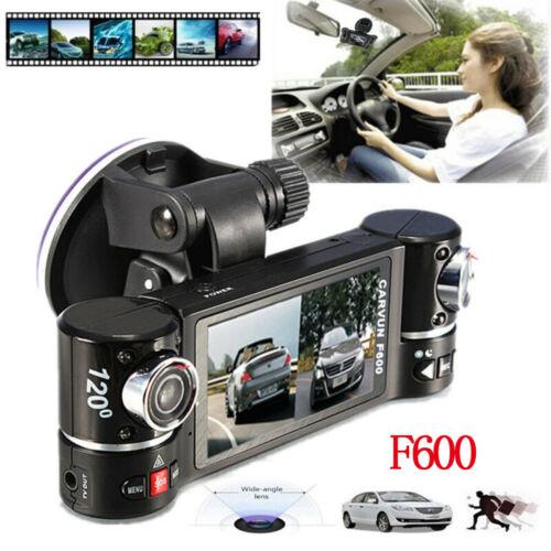 F600 Dual Lens Dash Cam In Car Camera Video Recorder Car DVR G-sensor GPS Logger