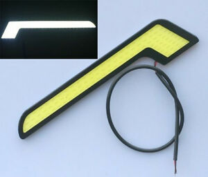 2x-White-Car-LED-Daytime-Running-Light-DRL-COB-Strip-Fog-Lamp-Super-Bright-12V