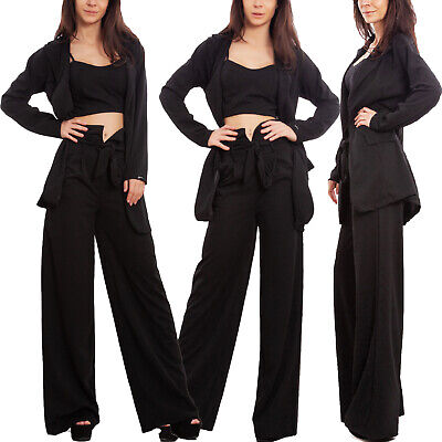 Completo Tre Pezzi Donna Elegante Tailleur Giacca Pantaloni Sexy Toocool Wd-3523 Estremamente Efficiente Nel Preservare Il Calore