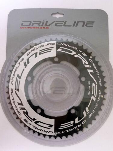 mr-ride DRIVELINE TT Chainring 56T BCD 130MM Black//Silver for Sram FSA
