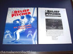 RELIEF-PITCHER-By-ATARI-1992-ORIGINAL-VIDEO-ARCADE-GAME-SERVICE-REPAIR-MANUAL