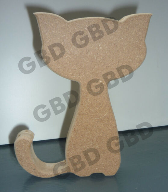 CAT IN MDF (18mm thick)/WOODEN BLANK CRAFT SHAPE/DECORATION PLAQUE