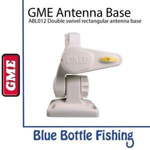 GME ABL012W Double swivel rectangular antenna base WHITE