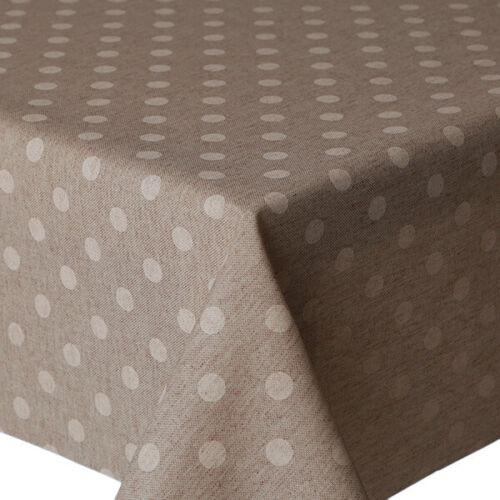 """diverses tailles Lavables Acrylique couché nappemirha /""""Pois Beige/'cernée"""
