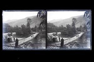 Indochine-Viet-Nam-France-Colonie-Photo-M14-Plaque-de-verre-Stereo-NEGATIVE
