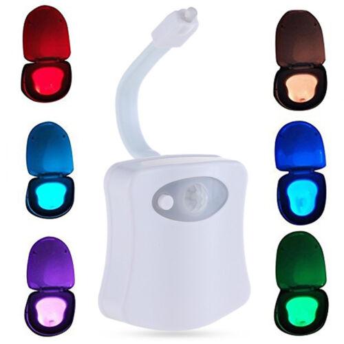 8Farben Motion Sensor LED Toilettendeckel WC Sitz Klobrille Klodeckel Nachtlicht