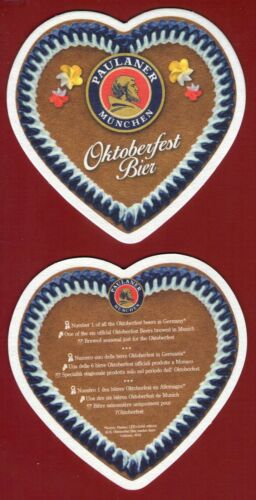 New 2 Sous Bocks bierdeckel coaster PAULANER Oktoberfest bier 2019 neufs nouveau
