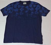 Lucky Brand Short Sleeve Blue W/ Flowers T-shirt Medium L449
