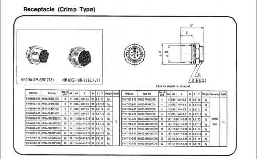 Conector Eléctrico 4Pin 4Pin conector de alimentación de conector HR10A Cámara Hirose
