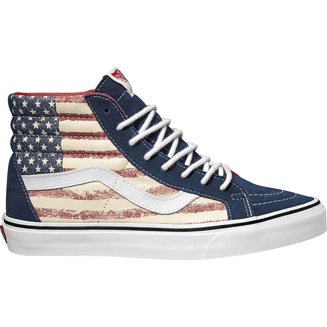 Vans SK8-Hi Hi Top Vestido azuls Americana EE. UU. Flag Para hombre Zapatos Tallas 11M Nuevo En Caja