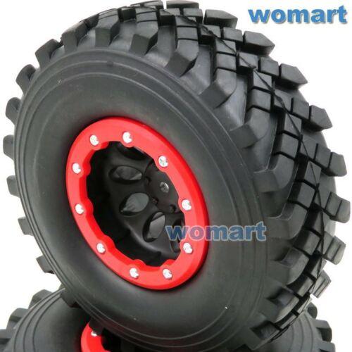 2Stk RC 2.2 Crawler Badland Tires Reifen 129mm /& 2.2 Beadlock Wheels Rims Felgen