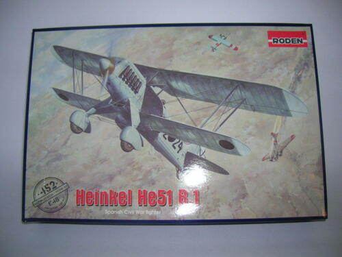 Roden Heinkel He51 B.1 Spanish Civil War Bausatz Kit 1:48 Kit Art 452