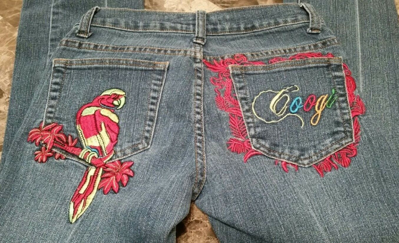 COOGI Jeans Women's Size 7 8 Authentic Australian colorful Parred Skinny Stretch