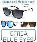 Occhiali da Sole RAYBAN CHRIS RB 4187 Ray Ban NEW Mirror Sonnenbrille Sunglasses