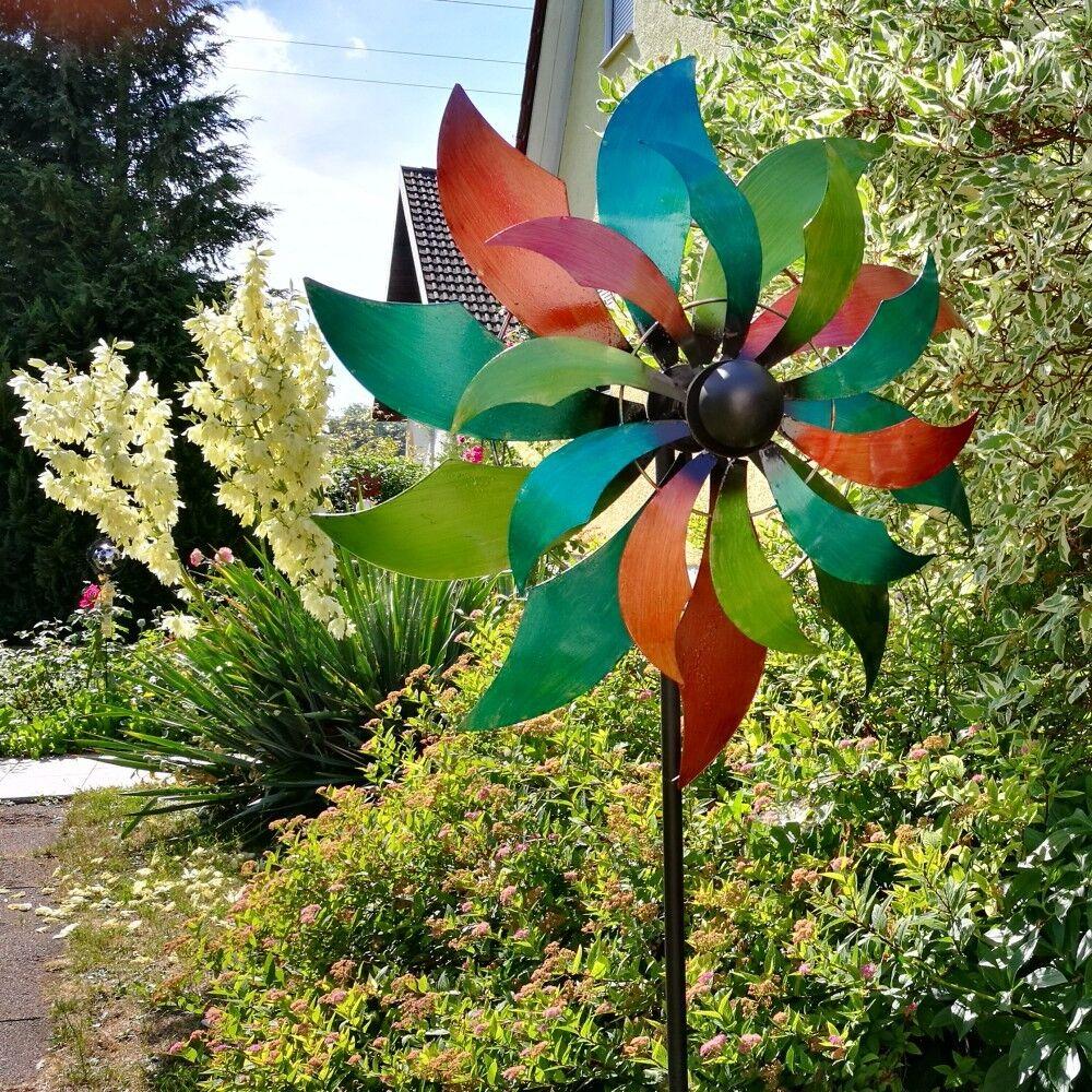 XXL MEGA Windrad Windspiel LATINA Metall 230 cm Ø 68,5 cm Farbeiert | Erste Klasse in seiner Klasse  | Heißer Verkauf  | Fairer Preis