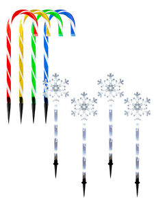 4-x-LED-Christmas-Garden-Stakes-Light-Up-Candy-Canes-Snowflakes-Xmas-Decoration