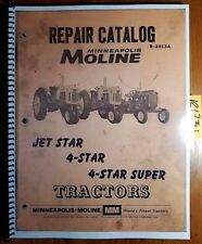 Minneapolis Moline Jet Star 4 Star Super Tractor Repair Parts Catalog Manual