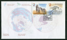 Canada FDC - 2005 - Wildlife $2 Falcon and Horse, Scott # 1691-92 Ersttagsbrief