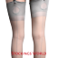 miniature 2 - Fully-Fashioned-Stockings-NYLONS-Seamed-Cuban-Heel-KEY-HOLE-WELT-Grey-M-L-NEW