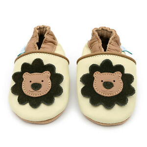 Dotty-Fish-Soft-Leather-Baby-amp-Toddler-Shoes-Cream-Lion-Newborn-3-4-Years