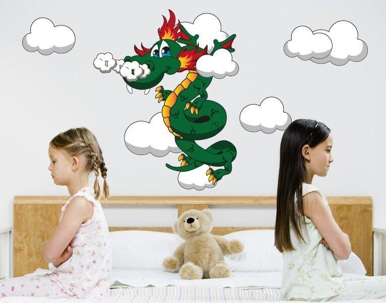 Wonder Dragon - Wand Abziehbilder Aufkleber