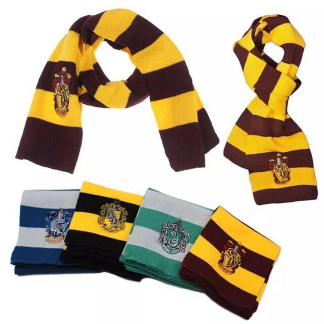 2018 Harry Potter Scarf Gryffindor Slytherin Hufflepuff Ravenclaw Gifts Cosplay