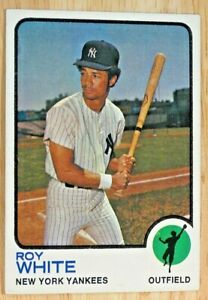 1973-TOPPS-BASEBALL-SET-25-Roy-White-New-York-Yankees-VGEX-EX