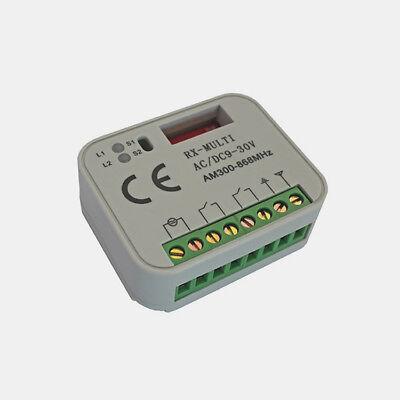 TORIX Universal-Funkempfänger Multi-R 868 MHz 2 Kanal 12-24V AC//DC