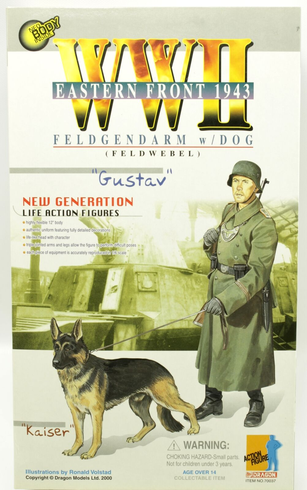 WWII Gustav Feldgendarm & Dog Eastern Front 1943 Dragon 12  Figure