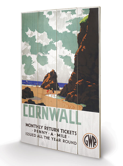 Cornwall Penny a Mile - Wooden Wall Art