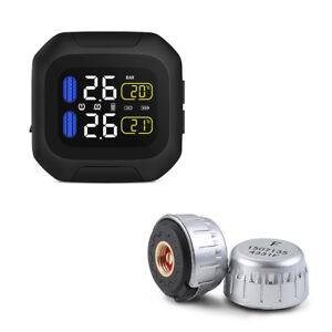 Motorrad-TPMS-Reifenluftdruckmesser-Reifen-ueberwachungssystem-2-Externer-Sensor