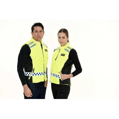 NEW EQUISAFETY POLITE QUILTED GILET HI VIZ REFLECT HORSE RIDE WATERPROOF